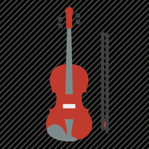 entertainment, instrument, music, rhythm, song, string music instrument, violin icon