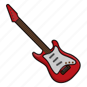 electric guitar, guitar, instrument, music, orchestra icon