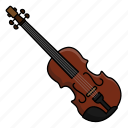 instrument, music, orchestra, violin icon