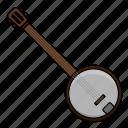 banjo, instrument, music, percussion icon