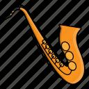 instrument, music, orchestra, saxophone, wind instrument