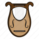 harp, instrument, lyre, music