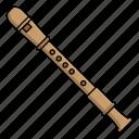 flute, instrument, music, wind instrument icon