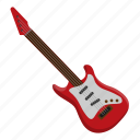electric guitar, guitar, instrument, music, orchestra, string instrument icon