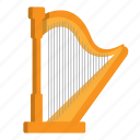 harp, instrument, music, string instrument icon