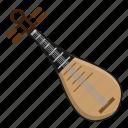 chinese, harp, instrument, lute, music
