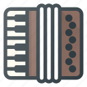 accordion, instrument, music, play icon