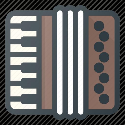 accordion, instrument, music, play icon
