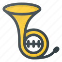 horn, instrument, music, play, trompet icon
