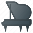 clap, instrument, key, music, pian, piano, play icon