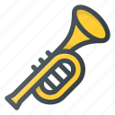horm, instrument, music, play, tromp, trompet icon