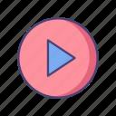 entertainment, media, multimedia, music, play, video icon