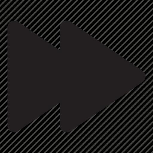 arrow, fast forward, interaction, music, ui, user interface icon