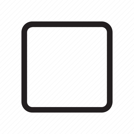 interaction, music, square, stop, ui, user interface icon