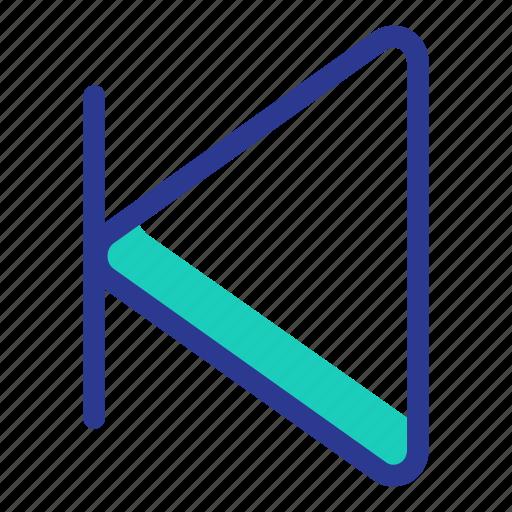 arrow, back, interaction, music, previous, ui, user interface icon