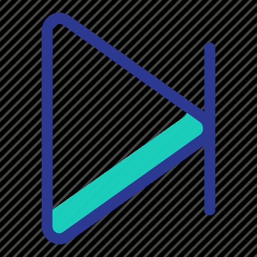 arrow, interaction, music, next, ui, user interface icon