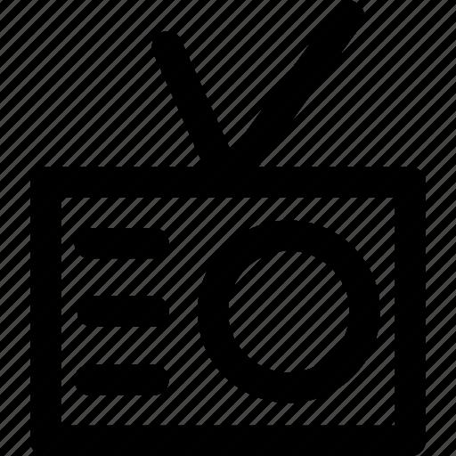 broadcast, device, radio, signal icon