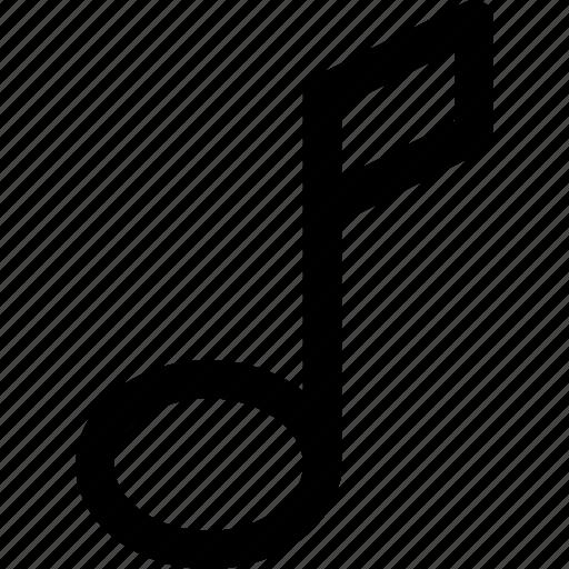 music, sign, sound, tone icon