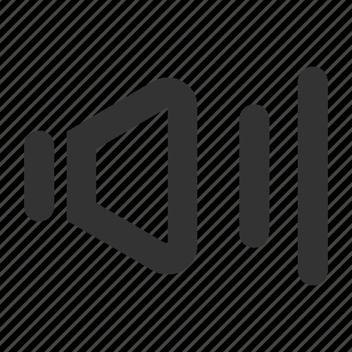audio, media, multimedia, music, on, sound, speaker icon