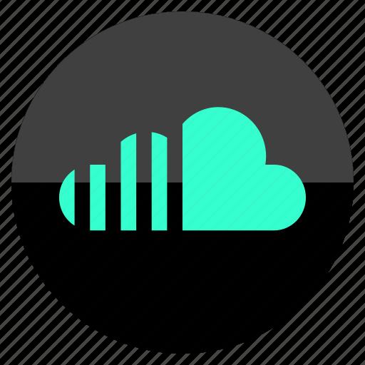 audio, cloud, data, network icon