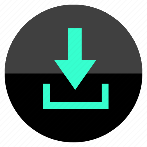direction, down, download, point icon
