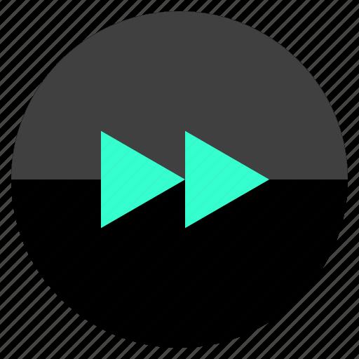arrow, fast, forward, skip icon