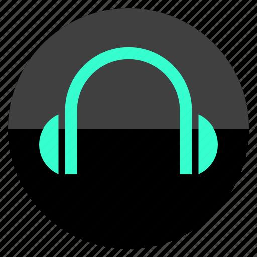 audio, beat, headphones, multimedia icon
