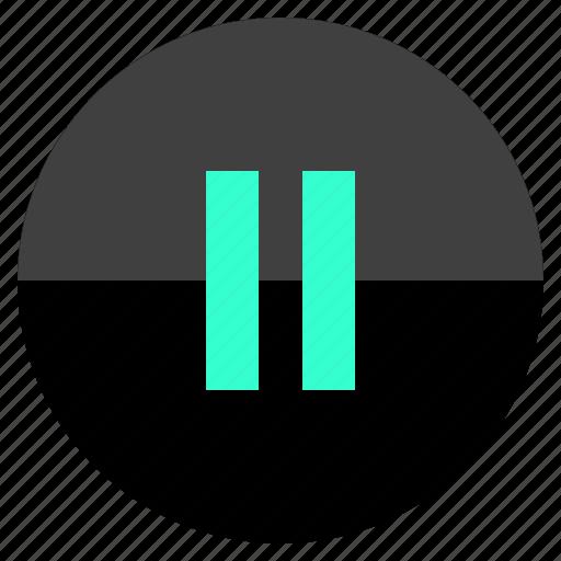 audio, menu, pause, sound icon