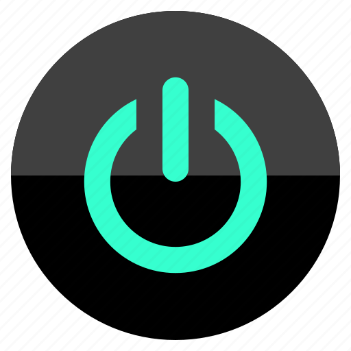charge, menu, on, power icon