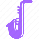 blues, instrumental, jazz, sax, saxophone icon