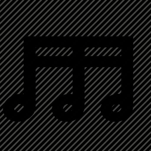 eighth, music, sixteenth, triple icon