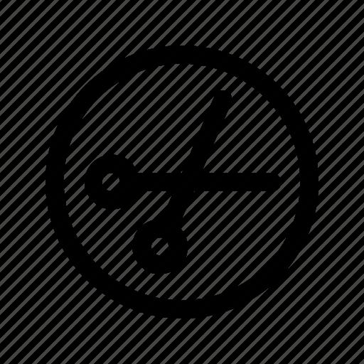 cut, music, part, scissors, sound icon