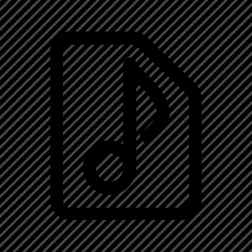 audio, doc, music, play, sound icon