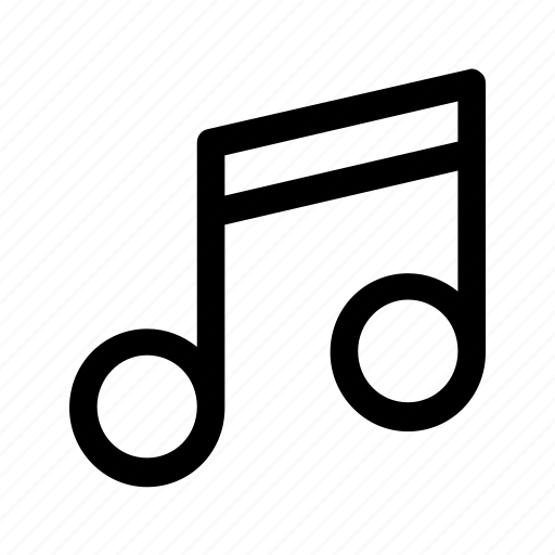 Note, sound, music, sign icon