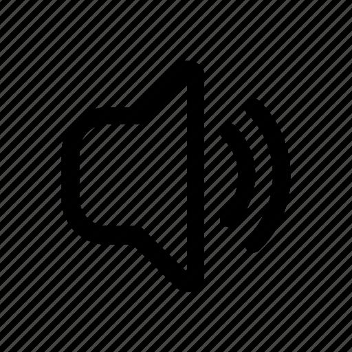 audio, dynamic, middle, sound, volume icon