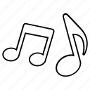 audio, music, musical, notes, song, soundtrack, track icon