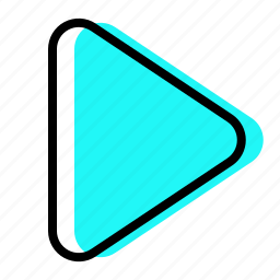 film, music, play, video icon