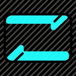 around, circle, music, repeat icon