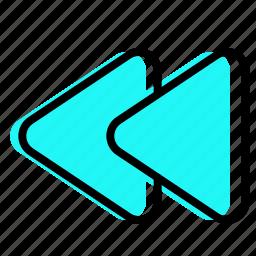 backward, before, music, previous icon