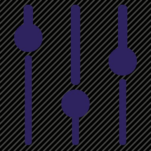 adjustment, equalizer, music, setting icon