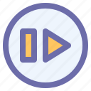 arrow, cursor, forward, interface, next