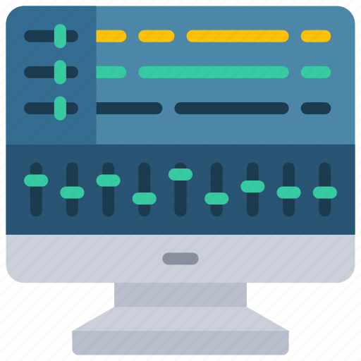 computer, music, musical, production, software icon