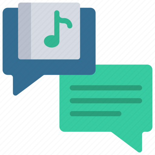 album, feedback, messages, music, production icon