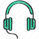 headphones, headset, music, musical, production icon