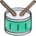 drum, instrument, music, musical, production icon