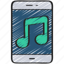 mobile, music, musical, production icon