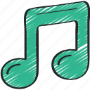 music, musical, note, production icon