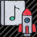 album, launch, music, production, rocket