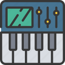 keyboard, music, production, tool icon
