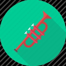 instrument, music, musical, node, sound, trumpet, volume icon